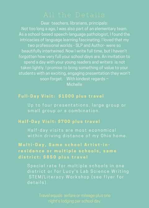 Copy of School Visit Presentations and Details copy